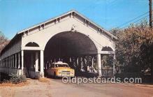 cou101001 - Covered Bridge Vintage Postcard