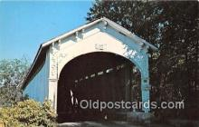 cou101002 - Covered Bridge Vintage Postcard