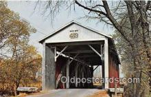 cou101003 - Covered Bridge Vintage Postcard