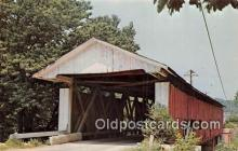 cou101004 - Covered Bridge Vintage Postcard