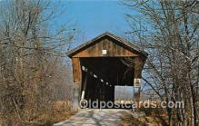 cou101007 - Covered Bridge Vintage Postcard