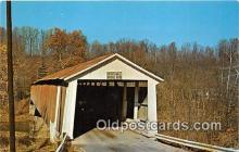 cou101008 - Covered Bridge Vintage Postcard