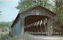 cou101012 - Covered Bridge Vintage Postcard