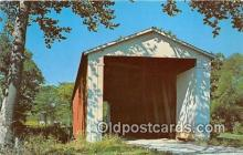 cou101013 - Covered Bridge Vintage Postcard