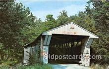 cou101014 - Covered Bridge Vintage Postcard