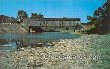 cou101015 - Covered Bridge Vintage Postcard