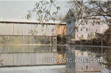 cou101016 - Covered Bridge Vintage Postcard