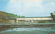cou101017 - Covered Bridge Vintage Postcard