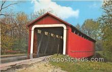 cou101022 - Covered Bridge Vintage Postcard