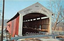 cou101023 - Covered Bridge Vintage Postcard