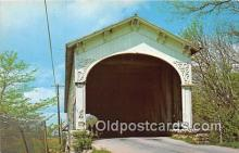 cou101025 - Covered Bridge Vintage Postcard