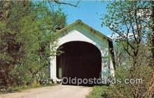 cou101026 - Covered Bridge Vintage Postcard