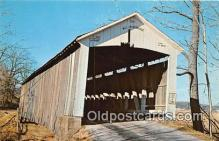 cou101028 - Covered Bridge Vintage Postcard