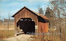 cou101030 - Covered Bridge Vintage Postcard