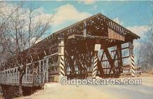 cou101031 - Covered Bridge Vintage Postcard