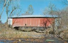 cou101033 - Covered Bridge Vintage Postcard