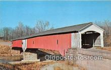 cou101034 - Covered Bridge Vintage Postcard