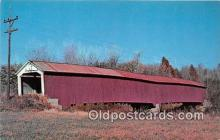 cou101035 - Covered Bridge Vintage Postcard