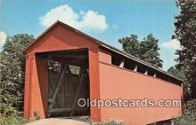 cou101037 - Covered Bridge Vintage Postcard