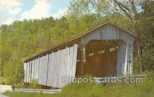 cou101038 - Covered Bridge Vintage Postcard