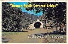 cou101043 - Covered Bridge Vintage Postcard
