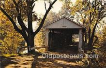 cou101052 - Covered Bridge Vintage Postcard