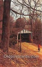 cou101055 - Covered Bridge Vintage Postcard