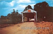 cou101058 - Covered Bridge Vintage Postcard