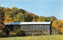 cou101060 - Covered Bridge Vintage Postcard