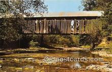 cou101061 - Covered Bridge Vintage Postcard