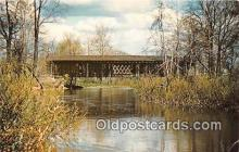 cou101064 - Covered Bridge Vintage Postcard