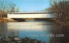 cou101065 - Covered Bridge Vintage Postcard