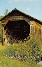 cou101066 - Covered Bridge Vintage Postcard