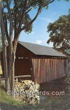 cou101070 - Covered Bridge Vintage Postcard