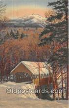 cou101071 - Covered Bridge Vintage Postcard