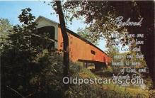 cou101074 - Covered Bridge Vintage Postcard