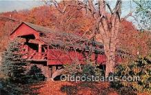 cou101080 - Covered Bridge Vintage Postcard