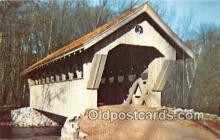 cou101088 - Covered Bridge Vintage Postcard