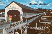cou101090 - Covered Bridge Vintage Postcard
