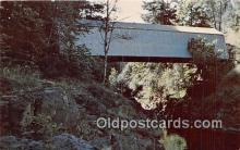 cou101094 - Covered Bridge Vintage Postcard