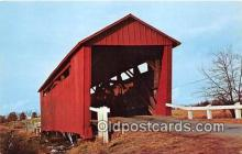 cou101099 - Covered Bridge Vintage Postcard