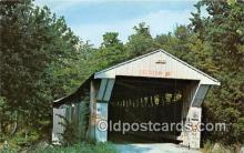 cou101101 - Covered Bridge Vintage Postcard