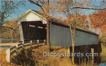 cou101102 - Covered Bridge Vintage Postcard