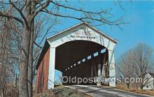 cou101104 - Covered Bridge Vintage Postcard