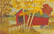 cou101105 - Covered Bridge Vintage Postcard