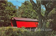 cou101110 - Covered Bridge Vintage Postcard