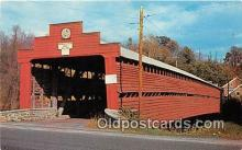 cou101111 - Covered Bridge Vintage Postcard