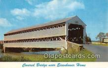 cou101118 - Covered Bridge Vintage Postcard