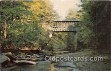 cou101120 - Covered Bridge Vintage Postcard