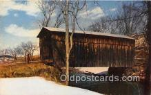 cou101121 - Covered Bridge Vintage Postcard